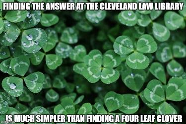 Small 4 leaf clover meme
